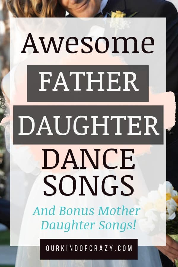 "Pin says ""Awesome Father Daughter Dance Songs"""