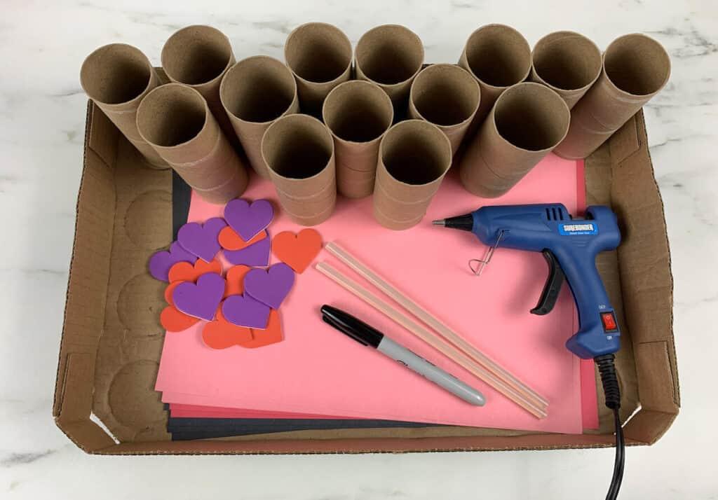 Valentine's Day Advent Calendar Supplies