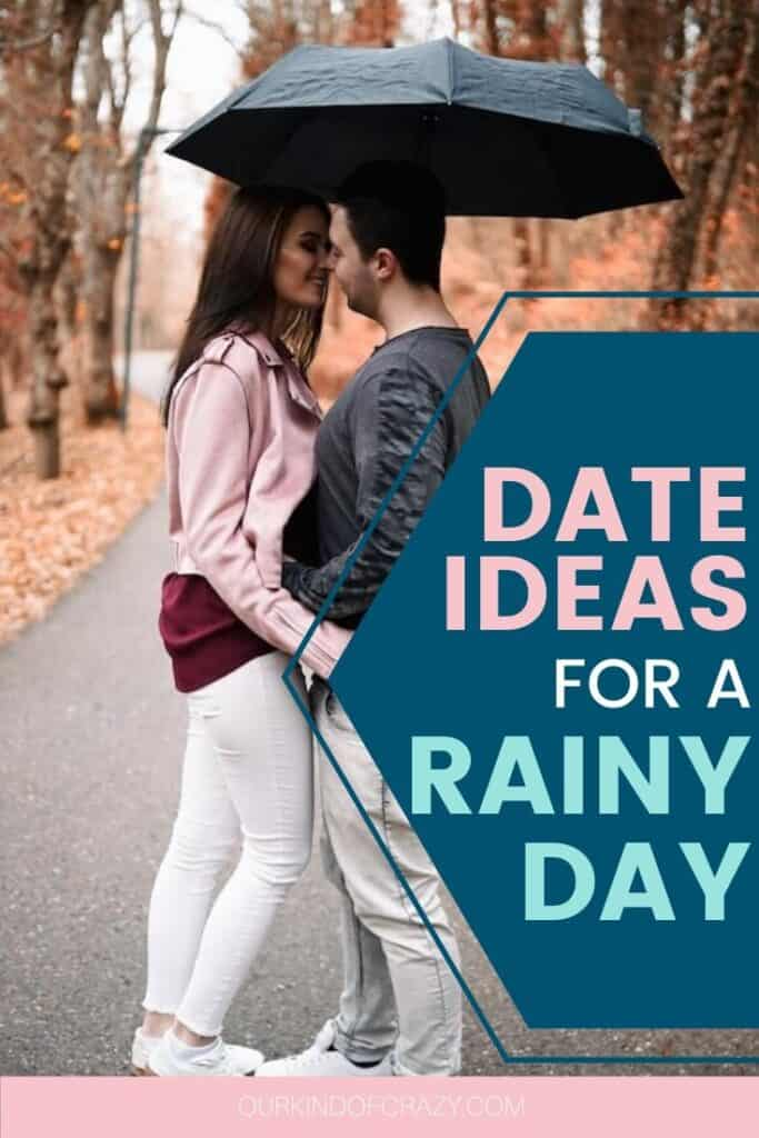 Date Ideas For A Rainy Day.  Perfect Rainy Day Date Ideas for Couples to enjoy the weather. These dates include at home date ideas, outside of the home, but indoor date ideas, as well as date activities you can enjoy in the rain. #dateideas #rainydaydates #rainydaydateideas
