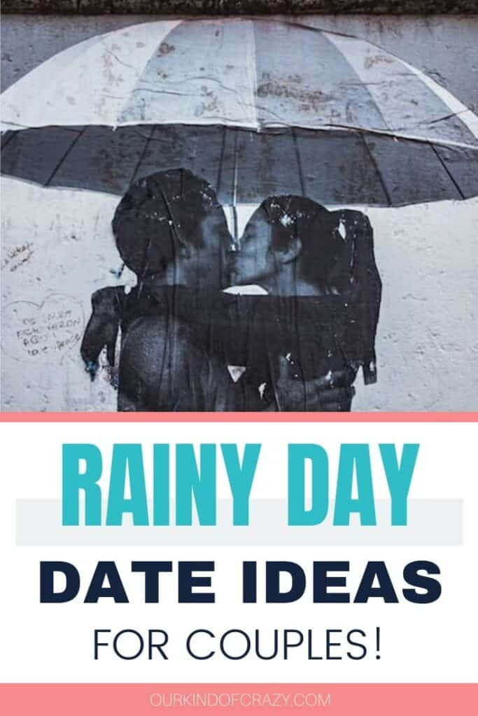 Rainy Day Date Ideas For Couples. Looking for some awesome things to do on a rainy day for adults? These date ideas will have you enjoying the day even with the rainy weather. You can use these at home date ideas, indoor date ideas outside of the home, or enjoy these date activities in the rain. #rainydaydates #rainydaydateideas #dateideas #datenight
