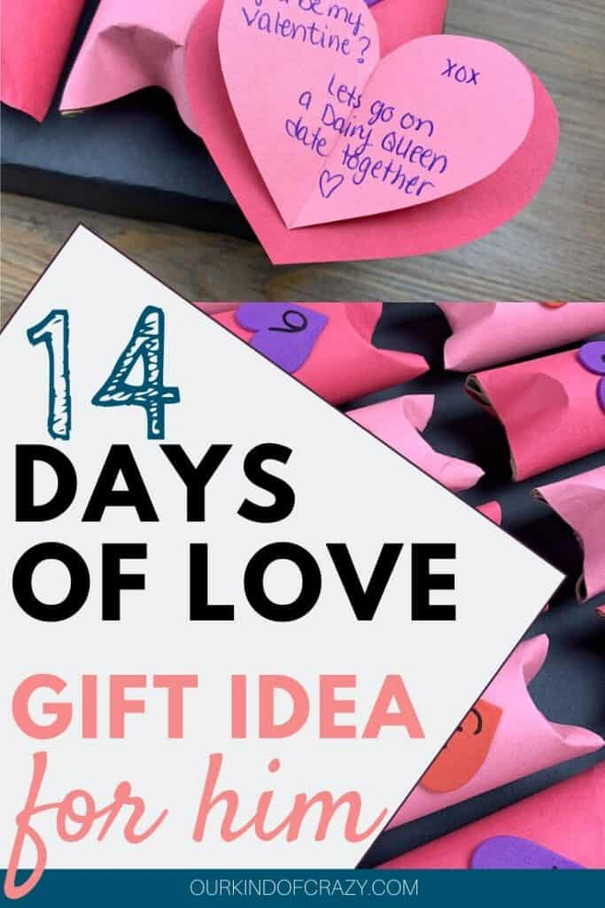 14 Days Of Love Gift Idea For Him - Valentine's Day Advent Calendar