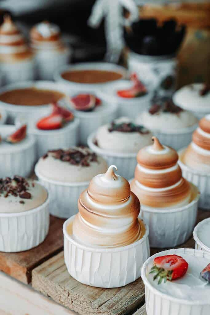 Rows of Desserts for  cheap date ideas