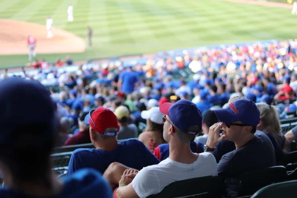 Crowd at a baseball game - cheap date idea