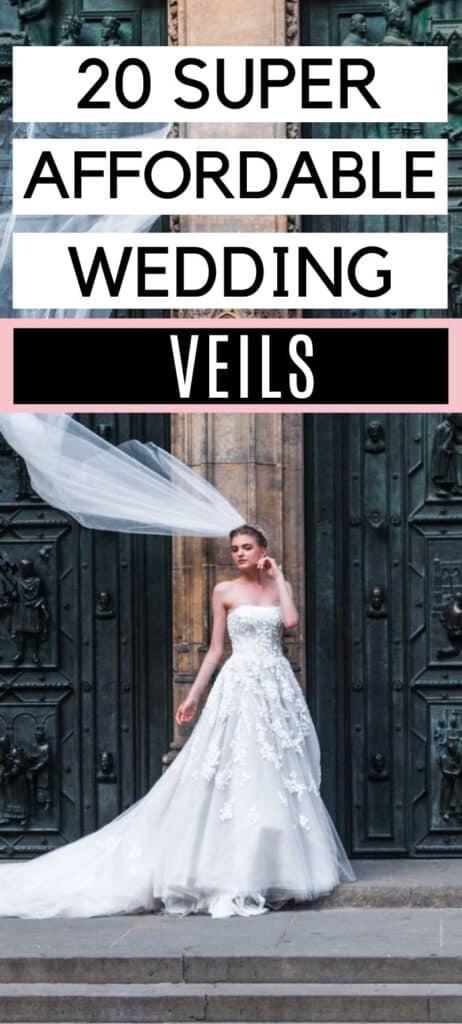 20 Super Affordable Wedding Veils