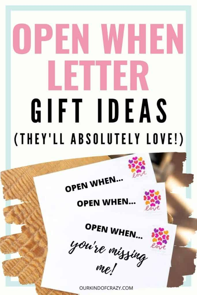 Open When Letter Gift Ideas They'll Absolutely Love