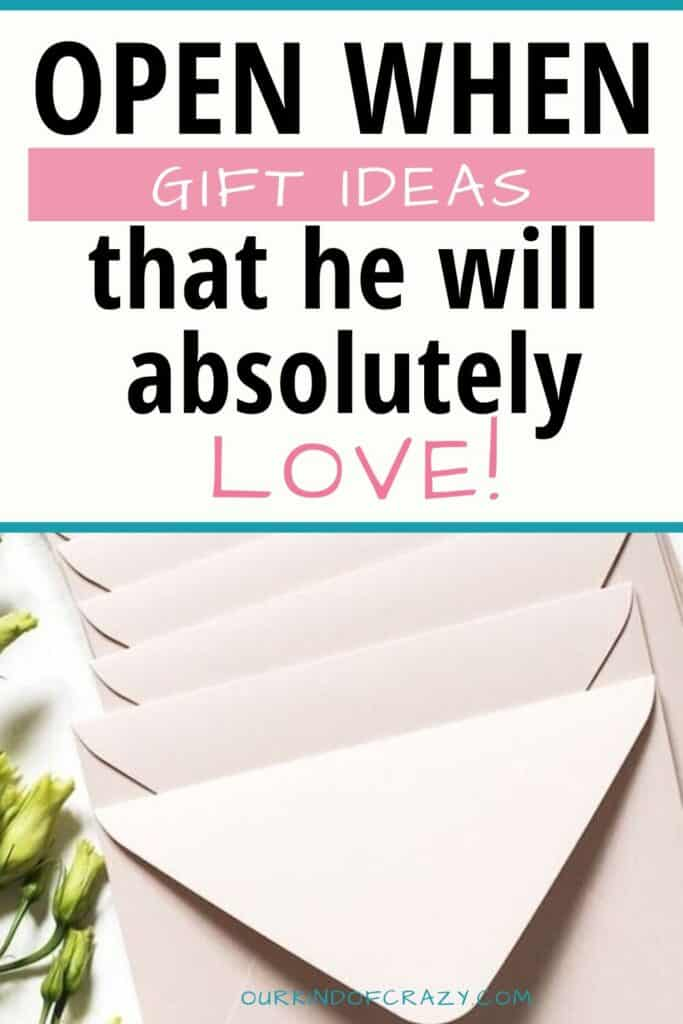 Open When Letters He Will Love