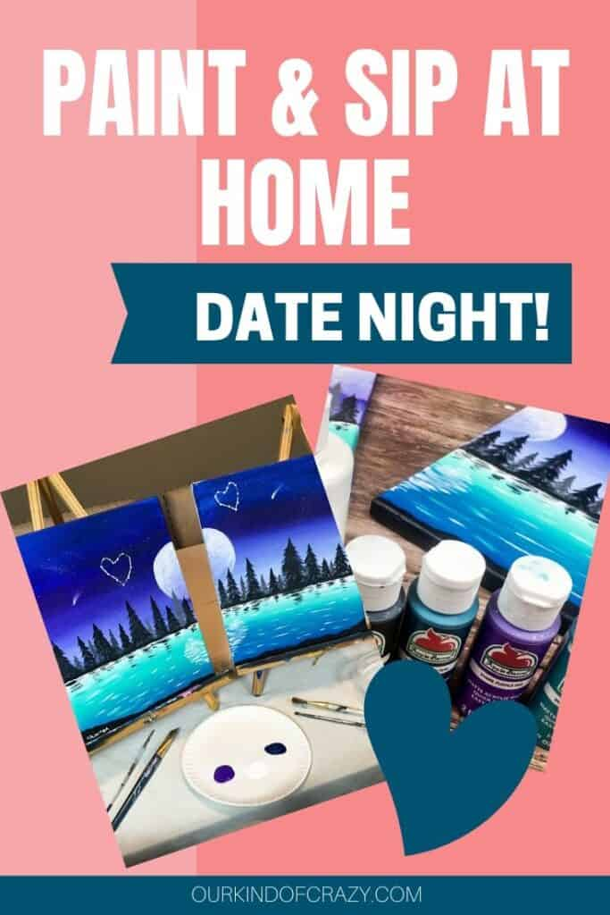 DIY Couples Painting Date Night At Home. Paint & Sip From your house, for the perfect at home date night.