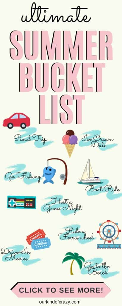 Ultimate Summer Bucket List. Perfect summer activities to do together.
