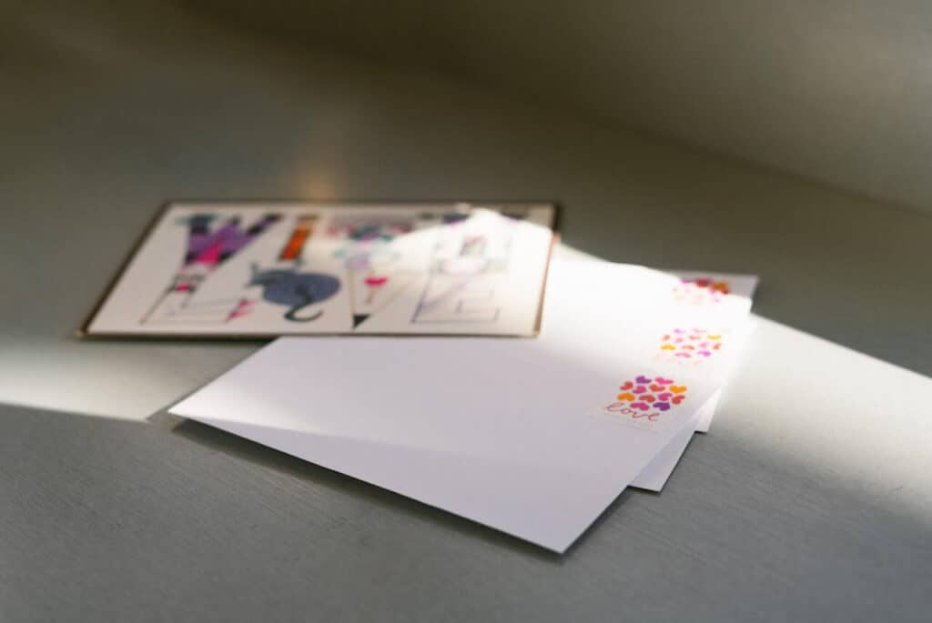 envelopes with stamps that say love