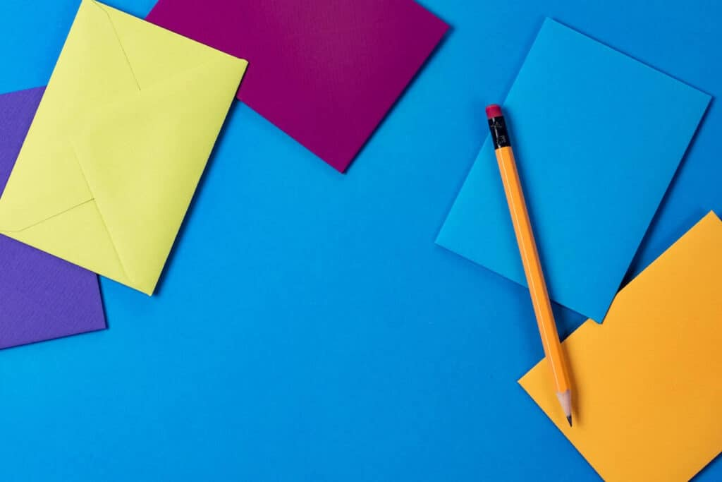colorful envelopes open when letter ideas