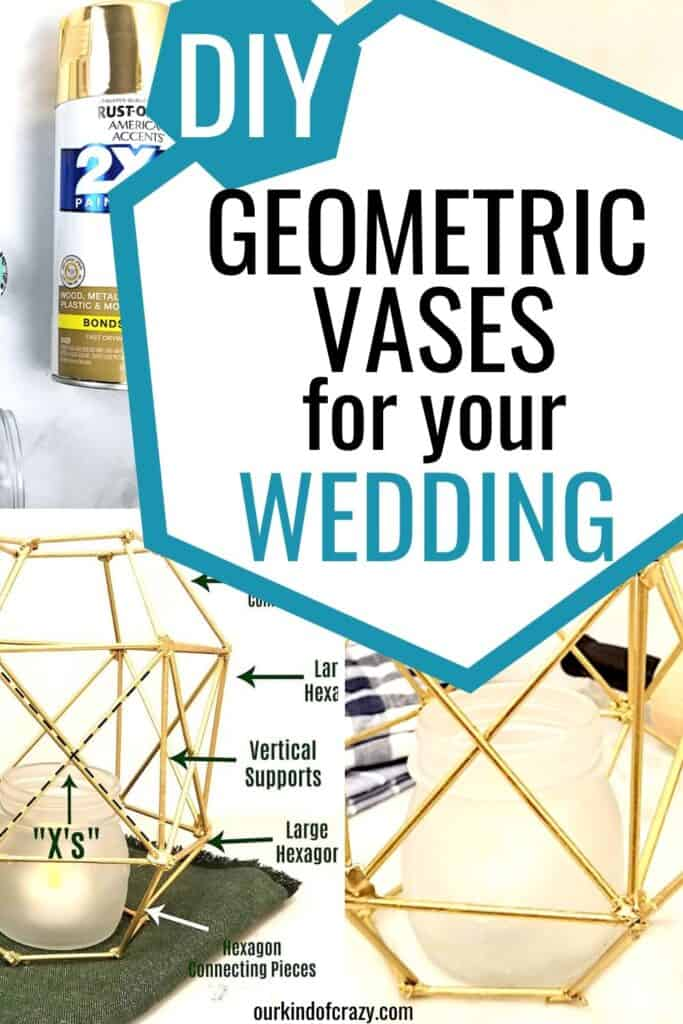 DIY geometric vases for your wedding
