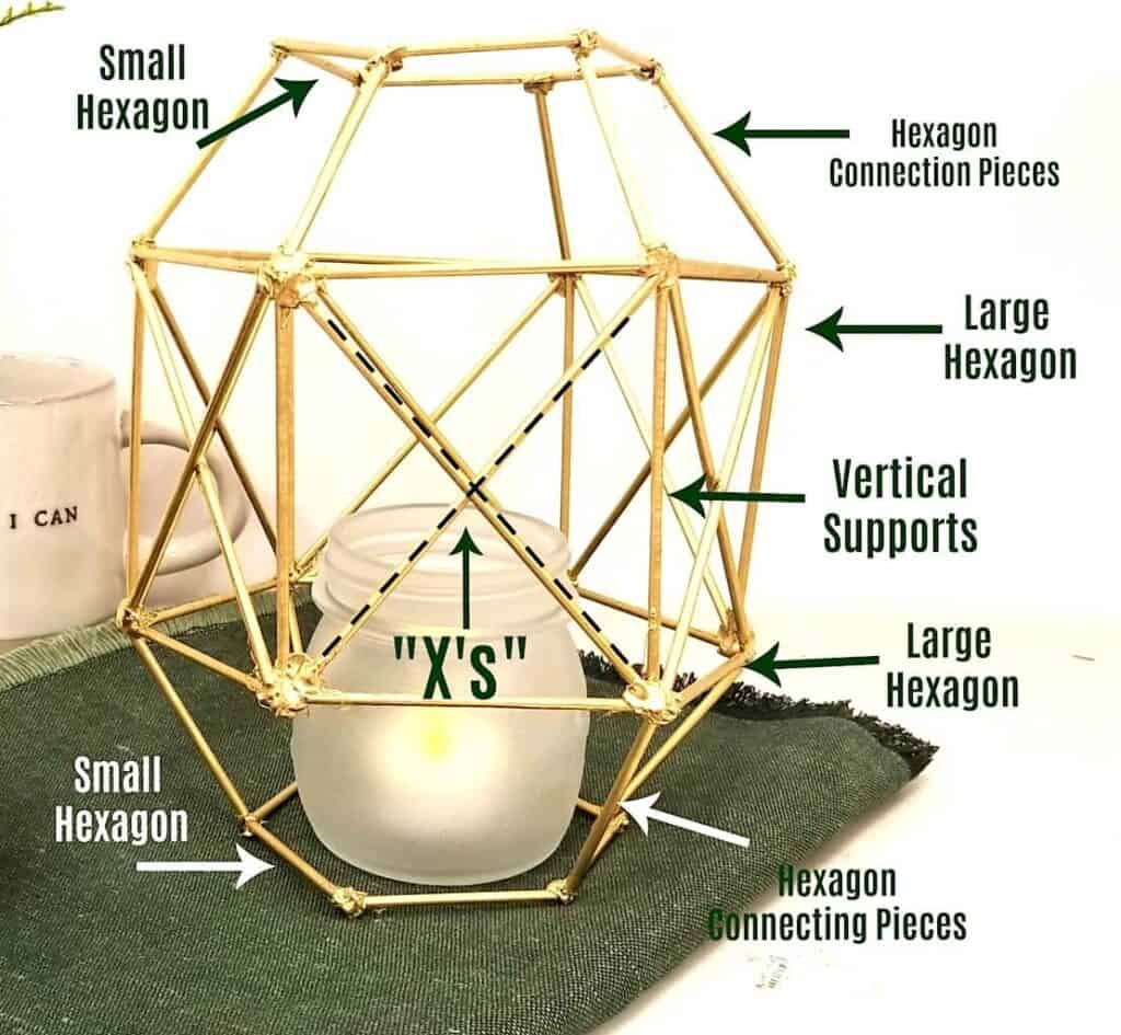 diagram to make candle holder