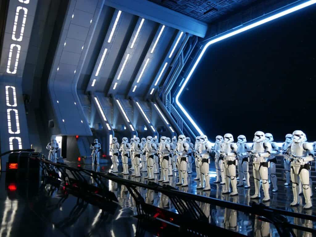Star Wars Show with stormtroopers in a line