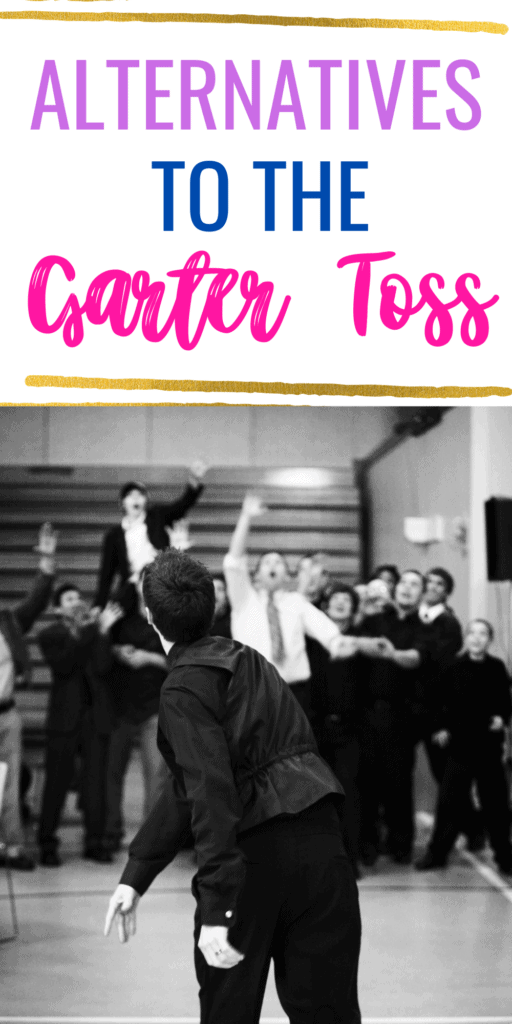 Alternatives to the garter toss, with groom throwing the garter