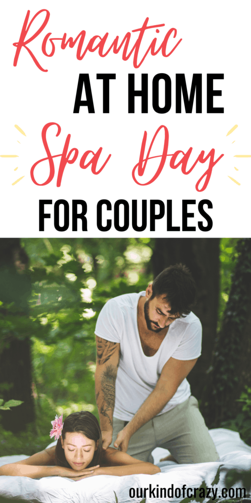 Romantic At Home Spa Day For Couples: Husband giving wife massage