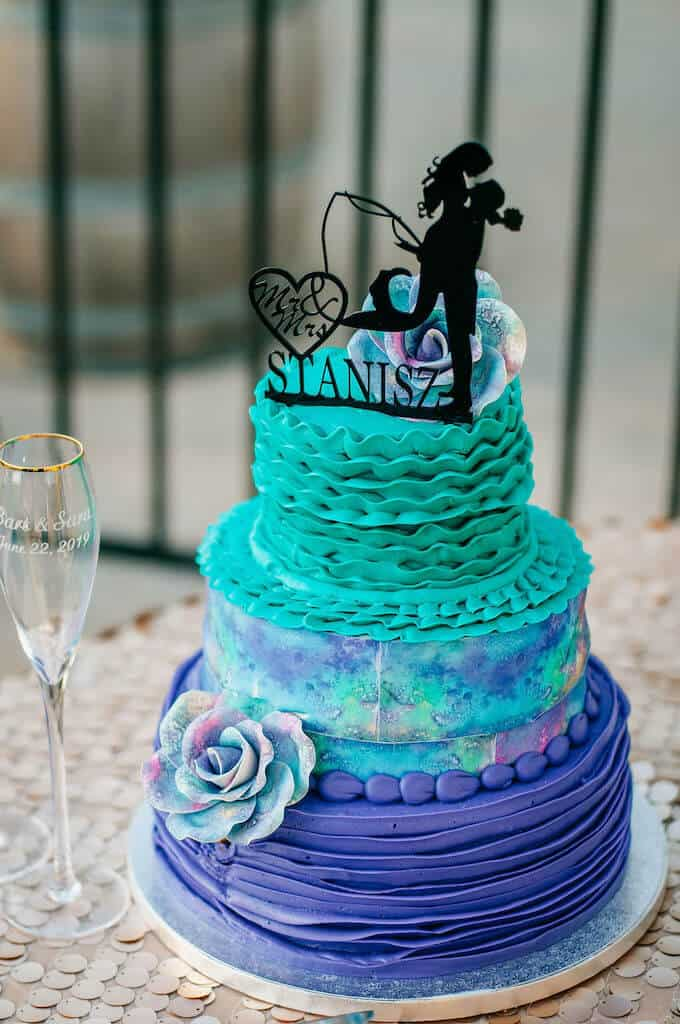 mermaid 3-tiered cake from Sams Club Wedding Cake Collection