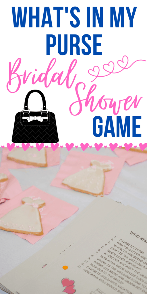 What's In My Purse Bridal Shower Game