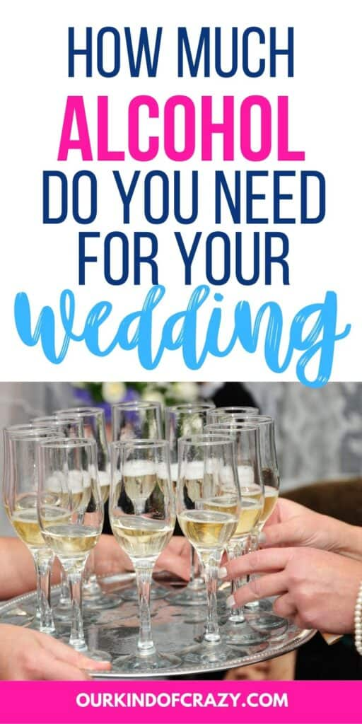 how much alcohol do you need for your wedding - with champagne glasses