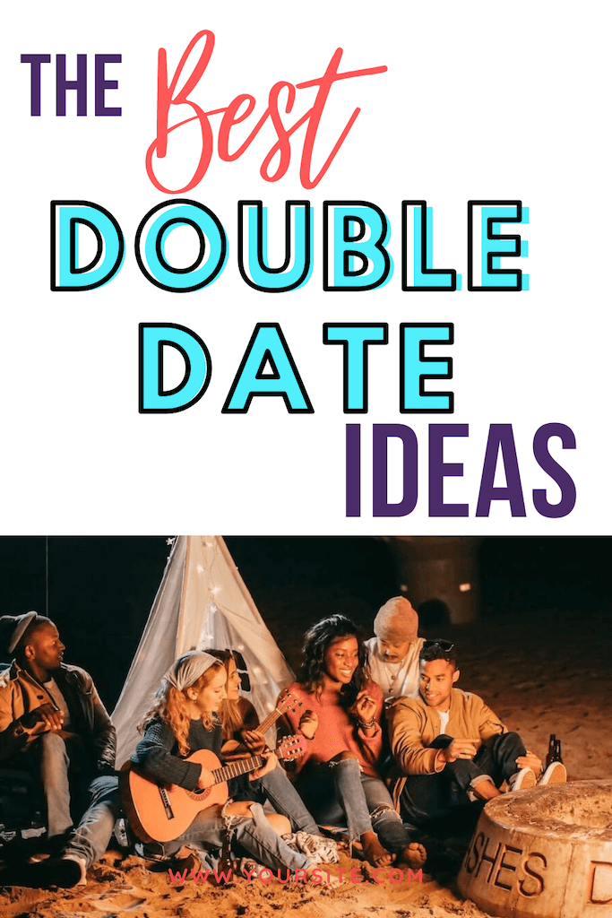 The Best Double Date Ideas for Couples -beach date sitting around campfire